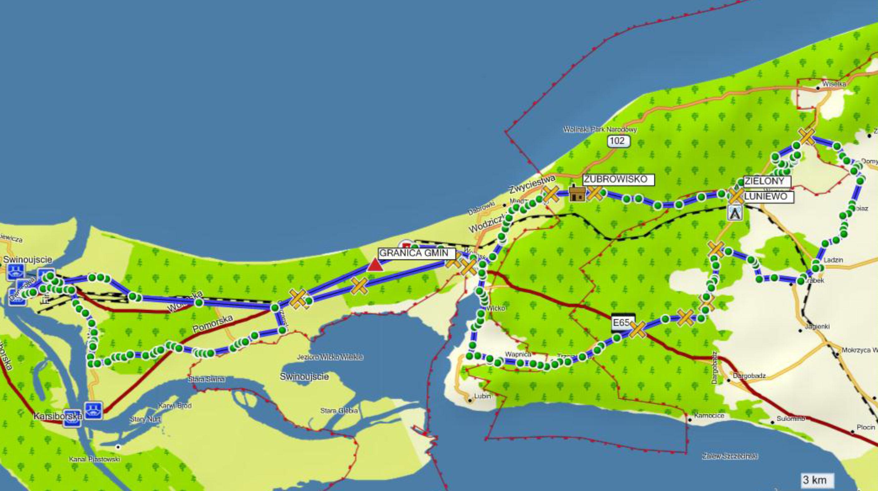 2015.07.26 - MAPA TRASY - 65,2 km